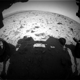 Nasa's Mars rover Curiosity acquired this image using its Front Hazard Avoidance Camera (Front Hazcam) on Sol 437, at drive 748, site number 21