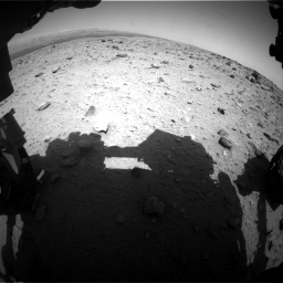 Nasa's Mars rover Curiosity acquired this image using its Front Hazard Avoidance Camera (Front Hazcam) on Sol 437, at drive 802, site number 21