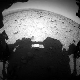 Nasa's Mars rover Curiosity acquired this image using its Front Hazard Avoidance Camera (Front Hazcam) on Sol 437, at drive 808, site number 21