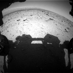 Nasa's Mars rover Curiosity acquired this image using its Front Hazard Avoidance Camera (Front Hazcam) on Sol 437, at drive 826, site number 21