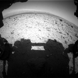 Nasa's Mars rover Curiosity acquired this image using its Front Hazard Avoidance Camera (Front Hazcam) on Sol 437, at drive 880, site number 21