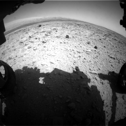 Nasa's Mars rover Curiosity acquired this image using its Front Hazard Avoidance Camera (Front Hazcam) on Sol 437, at drive 958, site number 21