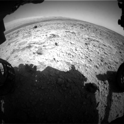 Nasa's Mars rover Curiosity acquired this image using its Front Hazard Avoidance Camera (Front Hazcam) on Sol 437, at drive 988, site number 21