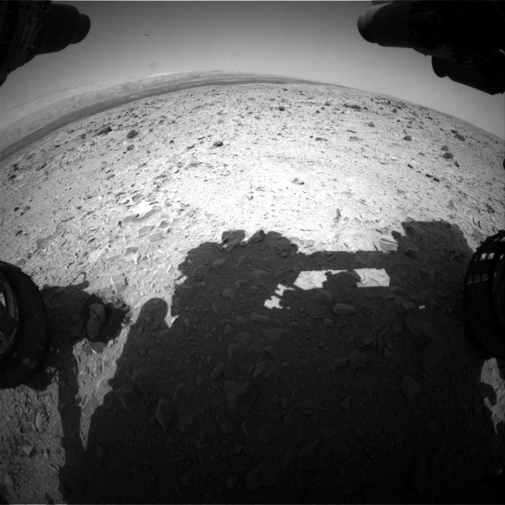Nasa's Mars rover Curiosity acquired this image using its Front Hazard Avoidance Camera (Front Hazcam) on Sol 437, at drive 646, site number 21