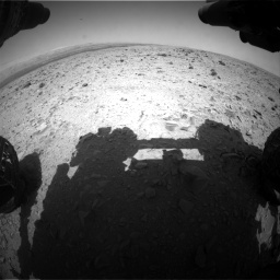 Nasa's Mars rover Curiosity acquired this image using its Front Hazard Avoidance Camera (Front Hazcam) on Sol 437, at drive 652, site number 21
