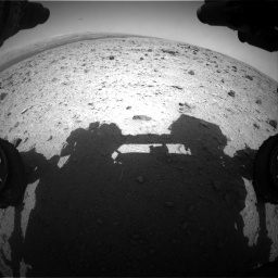 Nasa's Mars rover Curiosity acquired this image using its Front Hazard Avoidance Camera (Front Hazcam) on Sol 437, at drive 664, site number 21
