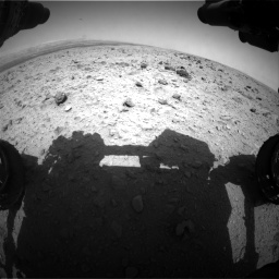 Nasa's Mars rover Curiosity acquired this image using its Front Hazard Avoidance Camera (Front Hazcam) on Sol 437, at drive 700, site number 21