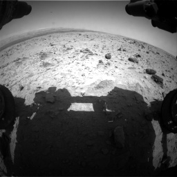 Nasa's Mars rover Curiosity acquired this image using its Front Hazard Avoidance Camera (Front Hazcam) on Sol 437, at drive 724, site number 21