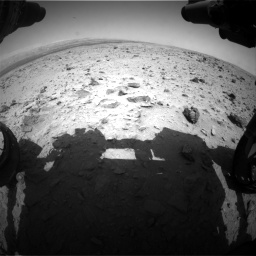 Nasa's Mars rover Curiosity acquired this image using its Front Hazard Avoidance Camera (Front Hazcam) on Sol 437, at drive 742, site number 21