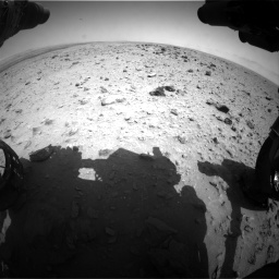 Nasa's Mars rover Curiosity acquired this image using its Front Hazard Avoidance Camera (Front Hazcam) on Sol 437, at drive 760, site number 21