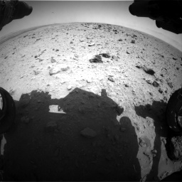Nasa's Mars rover Curiosity acquired this image using its Front Hazard Avoidance Camera (Front Hazcam) on Sol 437, at drive 766, site number 21