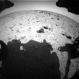 Nasa's Mars rover Curiosity acquired this image using its Front Hazard Avoidance Camera (Front Hazcam) on Sol 437, at drive 772, site number 21