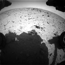 Nasa's Mars rover Curiosity acquired this image using its Front Hazard Avoidance Camera (Front Hazcam) on Sol 437, at drive 778, site number 21