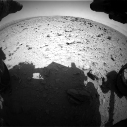Nasa's Mars rover Curiosity acquired this image using its Front Hazard Avoidance Camera (Front Hazcam) on Sol 437, at drive 784, site number 21