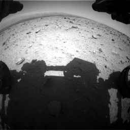 Nasa's Mars rover Curiosity acquired this image using its Front Hazard Avoidance Camera (Front Hazcam) on Sol 437, at drive 814, site number 21