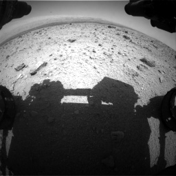 Nasa's Mars rover Curiosity acquired this image using its Front Hazard Avoidance Camera (Front Hazcam) on Sol 437, at drive 844, site number 21