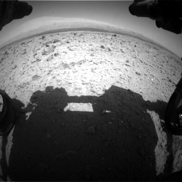 Nasa's Mars rover Curiosity acquired this image using its Front Hazard Avoidance Camera (Front Hazcam) on Sol 437, at drive 910, site number 21