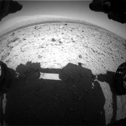 Nasa's Mars rover Curiosity acquired this image using its Front Hazard Avoidance Camera (Front Hazcam) on Sol 437, at drive 922, site number 21