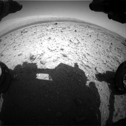 Nasa's Mars rover Curiosity acquired this image using its Front Hazard Avoidance Camera (Front Hazcam) on Sol 437, at drive 934, site number 21