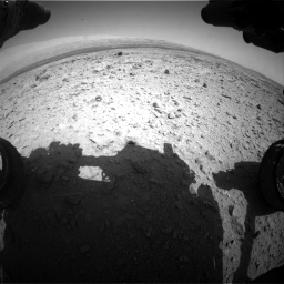 Nasa's Mars rover Curiosity acquired this image using its Front Hazard Avoidance Camera (Front Hazcam) on Sol 437, at drive 940, site number 21