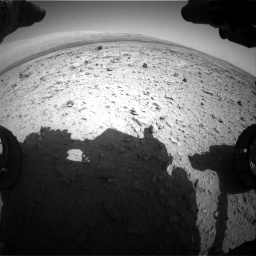 Nasa's Mars rover Curiosity acquired this image using its Front Hazard Avoidance Camera (Front Hazcam) on Sol 437, at drive 946, site number 21