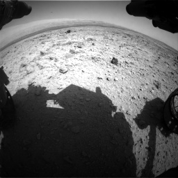 Nasa's Mars rover Curiosity acquired this image using its Front Hazard Avoidance Camera (Front Hazcam) on Sol 437, at drive 970, site number 21