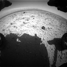 Nasa's Mars rover Curiosity acquired this image using its Front Hazard Avoidance Camera (Front Hazcam) on Sol 437, at drive 976, site number 21