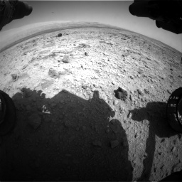 Nasa's Mars rover Curiosity acquired this image using its Front Hazard Avoidance Camera (Front Hazcam) on Sol 437, at drive 982, site number 21