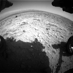 Nasa's Mars rover Curiosity acquired this image using its Front Hazard Avoidance Camera (Front Hazcam) on Sol 437, at drive 994, site number 21