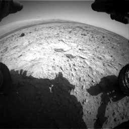 Nasa's Mars rover Curiosity acquired this image using its Front Hazard Avoidance Camera (Front Hazcam) on Sol 437, at drive 1012, site number 21