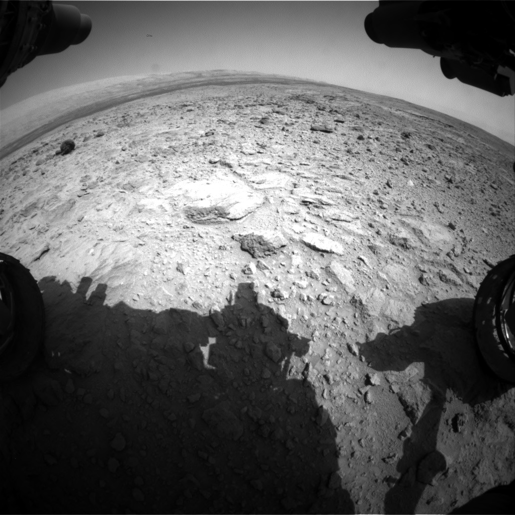 Nasa's Mars rover Curiosity acquired this image using its Front Hazard Avoidance Camera (Front Hazcam) on Sol 437, at drive 1028, site number 21