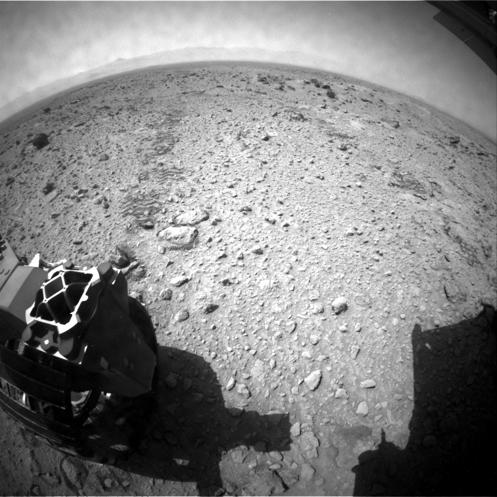 NASA's Mars rover Curiosity acquired this image using its Rear Hazard Avoidance Cameras (Rear Hazcams) on Sol 437