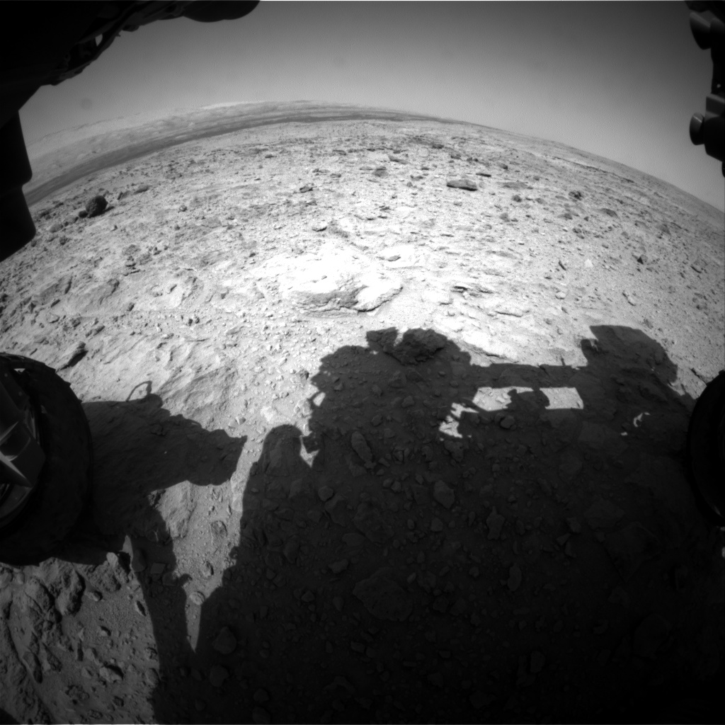 Nasa's Mars rover Curiosity acquired this image using its Front Hazard Avoidance Camera (Front Hazcam) on Sol 438, at drive 1028, site number 21