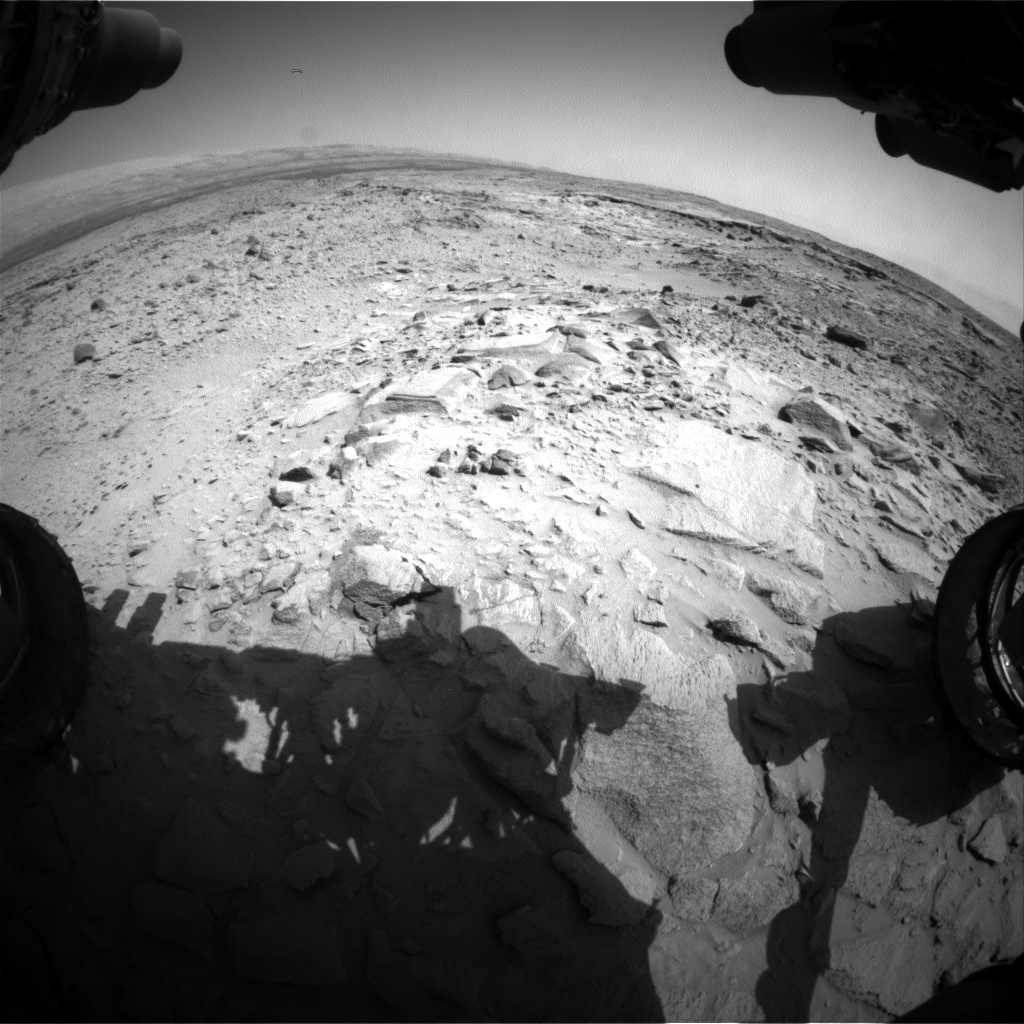 Nasa's Mars rover Curiosity acquired this image using its Front Hazard Avoidance Camera (Front Hazcam) on Sol 438, at drive 1362, site number 21