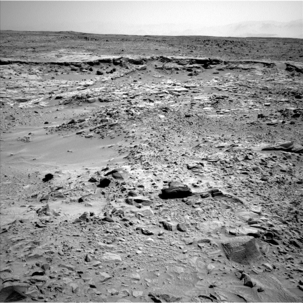 Nasa's Mars rover Curiosity acquired this image using its Left Navigation Camera on Sol 438, at drive 1362, site number 21