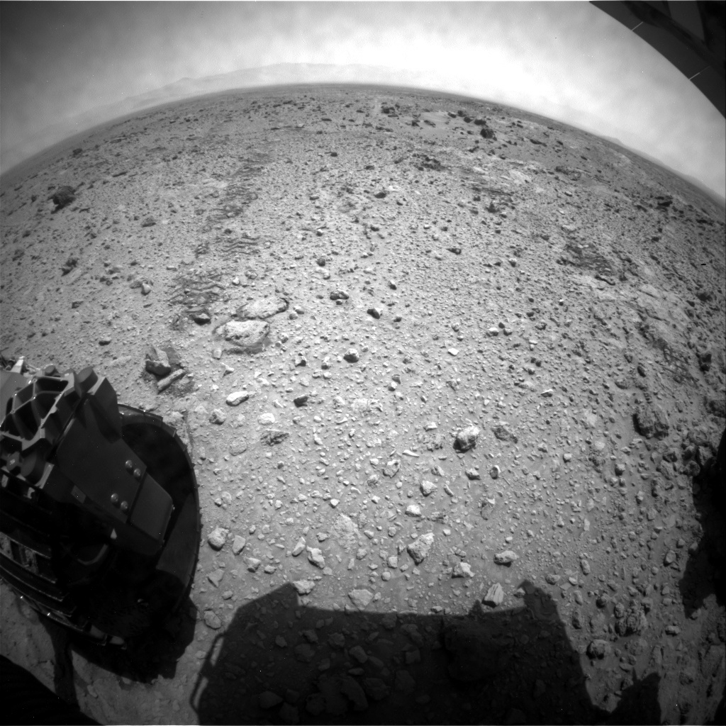 NASA's Mars rover Curiosity acquired this image using its Rear Hazard Avoidance Cameras (Rear Hazcams) on Sol 438