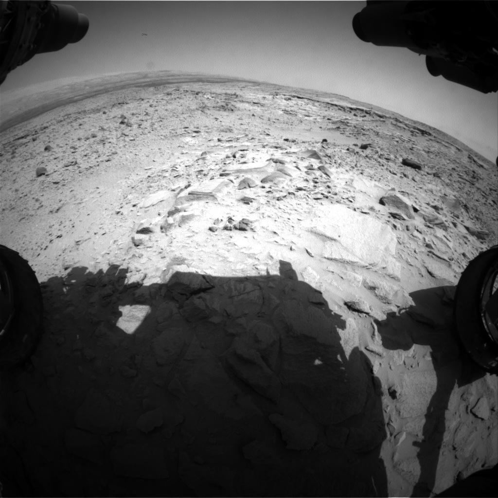 Nasa's Mars rover Curiosity acquired this image using its Front Hazard Avoidance Camera (Front Hazcam) on Sol 439, at drive 1362, site number 21