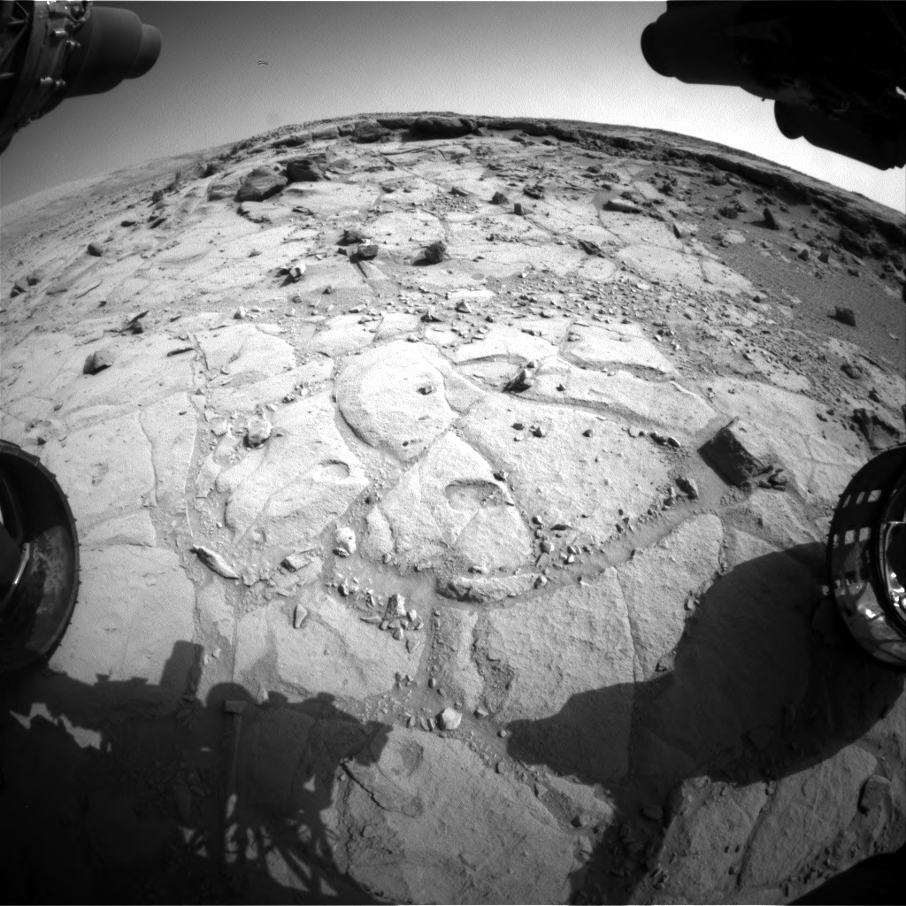 Nasa's Mars rover Curiosity acquired this image using its Front Hazard Avoidance Camera (Front Hazcam) on Sol 439, at drive 1572, site number 21