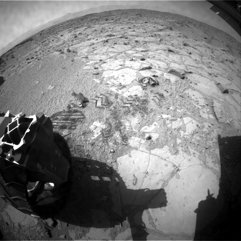 NASA's Mars rover Curiosity acquired this image using its Rear Hazard Avoidance Cameras (Rear Hazcams) on Sol 440