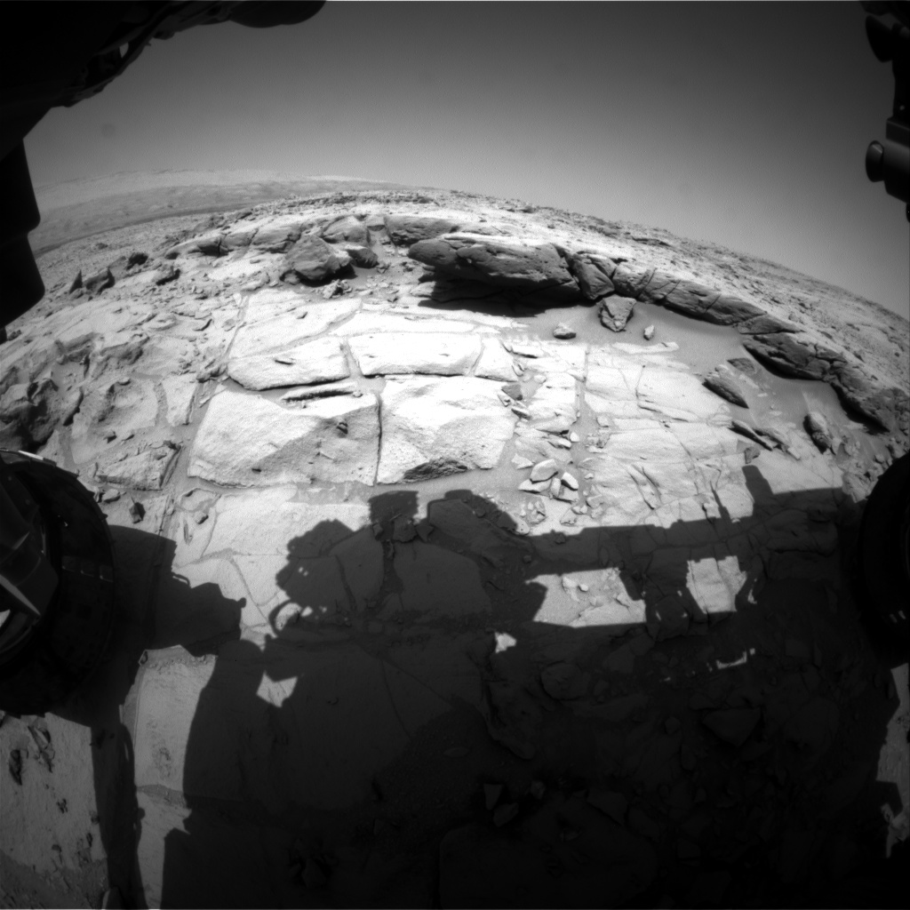 Nasa's Mars rover Curiosity acquired this image using its Front Hazard Avoidance Camera (Front Hazcam) on Sol 441, at drive 0, site number 22