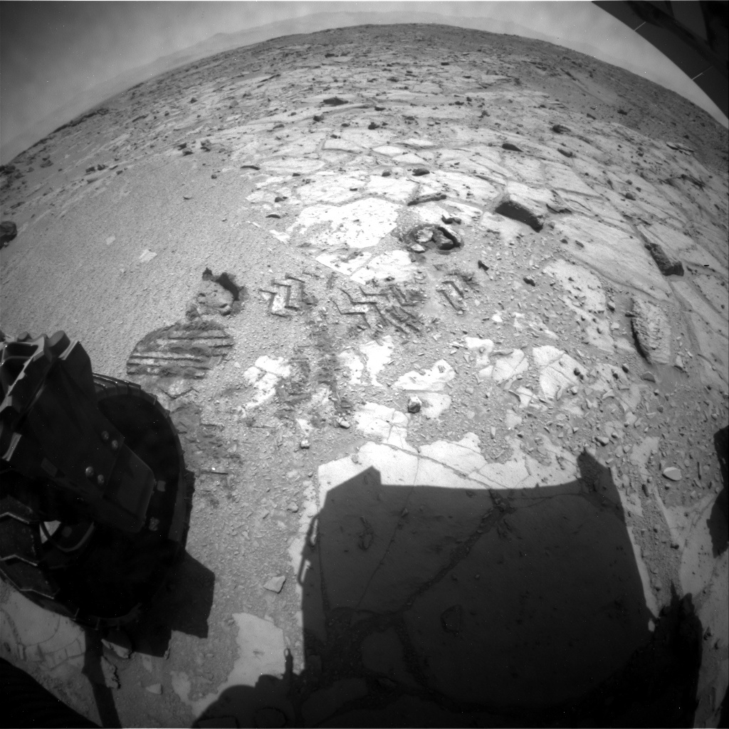 NASA's Mars rover Curiosity acquired this image using its Rear Hazard Avoidance Cameras (Rear Hazcams) on Sol 441