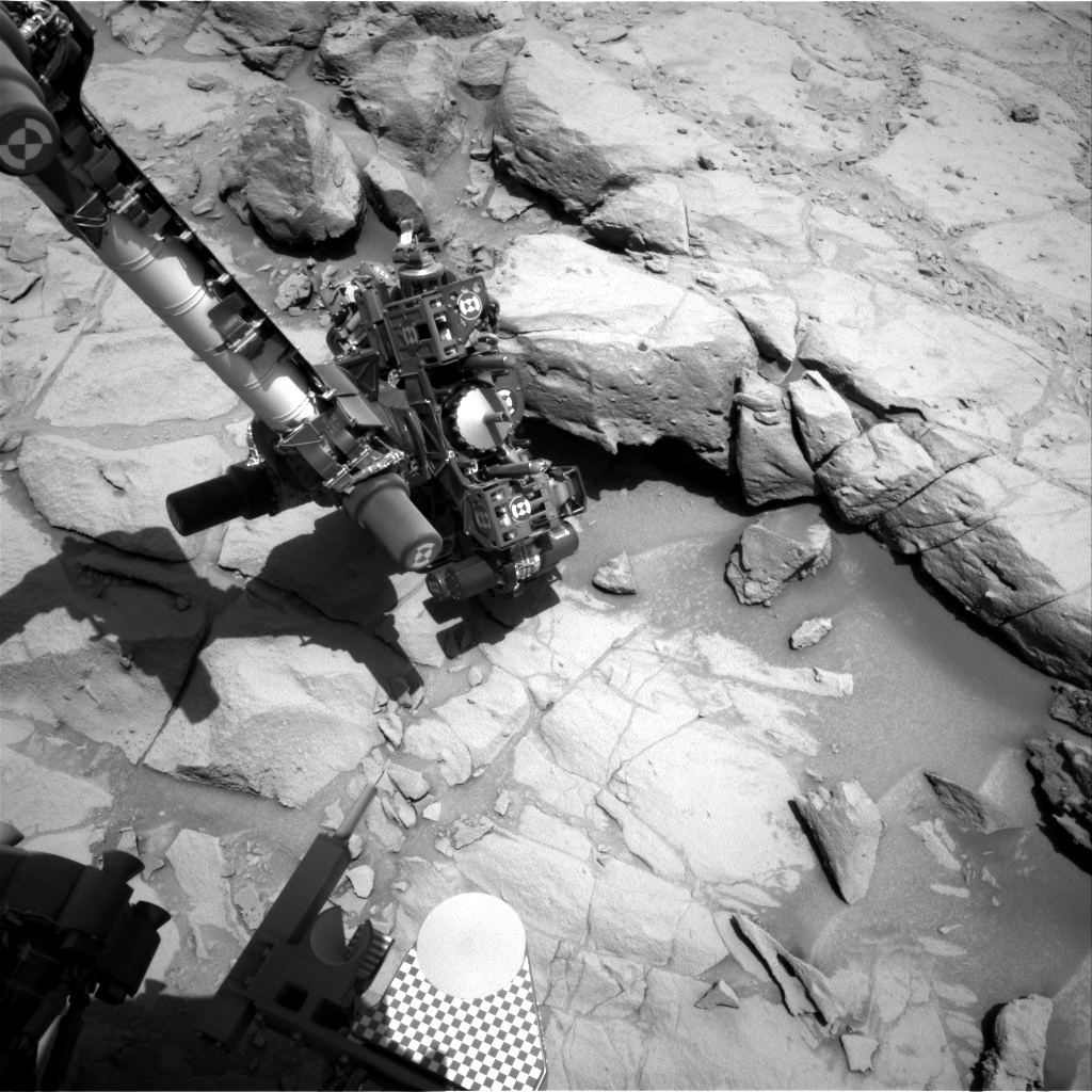 NASA's Mars rover Curiosity acquired this image using its Right Navigation Cameras (Navcams) on Sol 442
