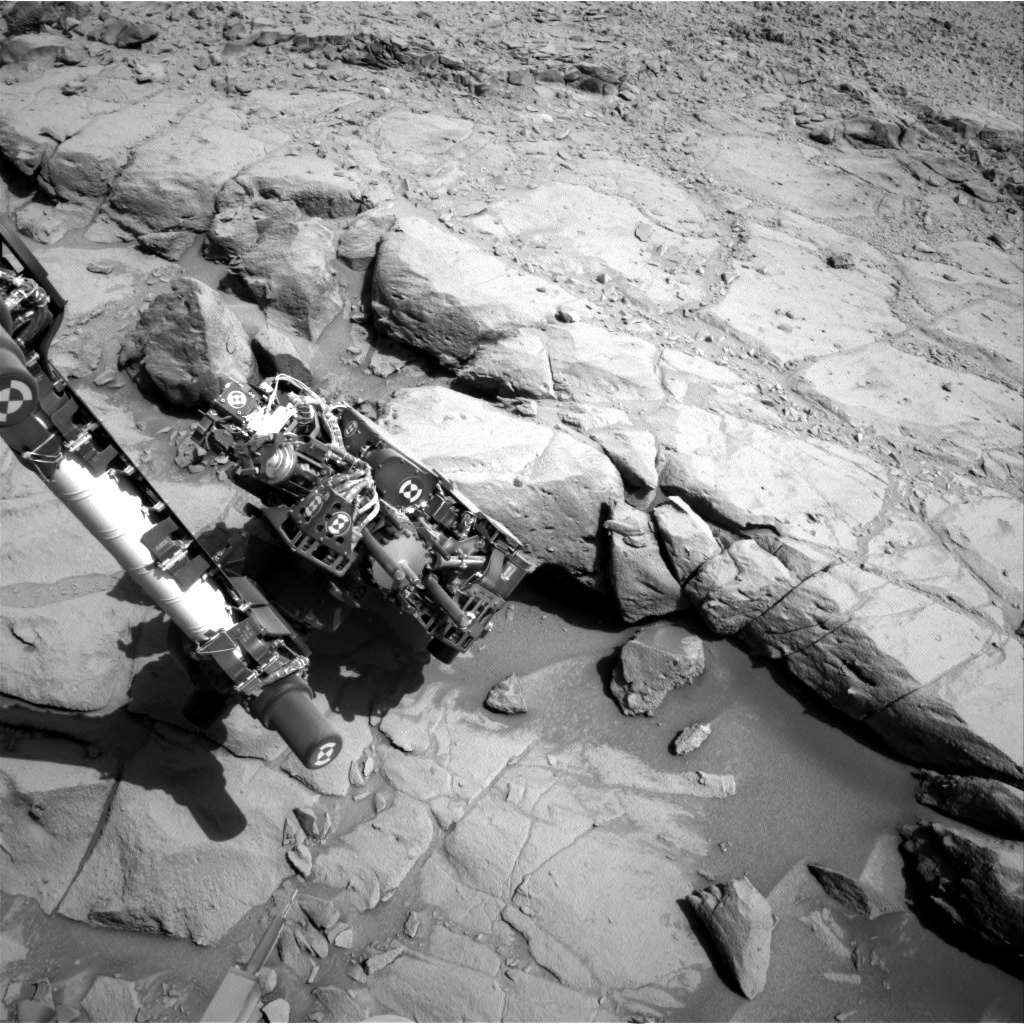 Nasa's Mars rover Curiosity acquired this image using its Right Navigation Camera on Sol 442, at drive 0, site number 22