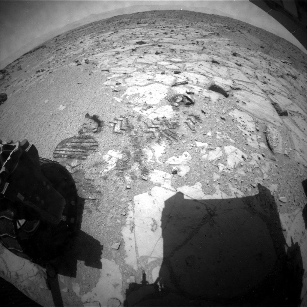 NASA's Mars rover Curiosity acquired this image using its Rear Hazard Avoidance Cameras (Rear Hazcams) on Sol 442