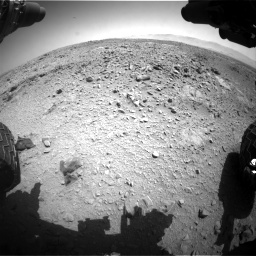 Nasa's Mars rover Curiosity acquired this image using its Front Hazard Avoidance Camera (Front Hazcam) on Sol 453, at drive 324, site number 22