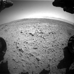 Nasa's Mars rover Curiosity acquired this image using its Front Hazard Avoidance Camera (Front Hazcam) on Sol 453, at drive 336, site number 22