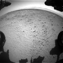 Nasa's Mars rover Curiosity acquired this image using its Front Hazard Avoidance Camera (Front Hazcam) on Sol 453, at drive 408, site number 22