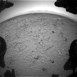 Nasa's Mars rover Curiosity acquired this image using its Front Hazard Avoidance Camera (Front Hazcam) on Sol 453, at drive 426, site number 22