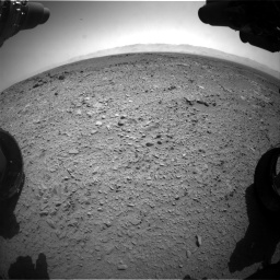 Nasa's Mars rover Curiosity acquired this image using its Front Hazard Avoidance Camera (Front Hazcam) on Sol 453, at drive 444, site number 22