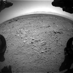 Nasa's Mars rover Curiosity acquired this image using its Front Hazard Avoidance Camera (Front Hazcam) on Sol 453, at drive 450, site number 22